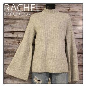 Bell Sleeve Mock Knit Sweater by Rachel Roy